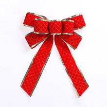 25CM  Christmas Tree Bow Decoration Supplies XMAS Party Bows Christmas Ornament  Christmas Headbands