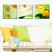 Big size 3pcs living room bedroom home wall decor abstract wild white daffodil Wall Art picture flower print Painting Canvas art