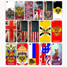 3212CA UK & US & Russia Flag Design Hard Transparent Case for Redmi 3 3s Pro Note 2 3 Pro 2 2A & Meizu M3 Note M2 note Mini case