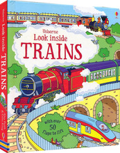 Britain English 3D Usborne Look inside Trains picture book Education kids child With over 50 flaps to lift hard cover(China)