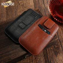 KISSCASE Universal Phone Case For iPhone 6 6s 7 7 Plus Vintage Leather Card Slot Cover Pouch For Samsung S5 S6 S7 For Xiaomi 5