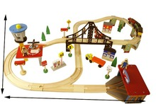 70pcs/set Fashion wooden railway Track toys DIY kids Tomas and Friends train slot toys
