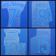 France POGBA CABAYE GRIEZMANN PAYET GIROUD MARTIAL Mbappe BENZEMA football number font print, Hot stamping Soccer patches badges(China)