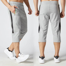 Men's 3/4 Running Pants Jogging Pants Gym Sport Cotton Zip Soccer Training Fitness Tennis Pants Basketball Sweatpants(China)