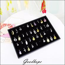 Portable Black Velvet Jewelry Display Tray Pendant Holder Storage Boxes Case Organizer Showcase for Jewellery Window Displaying(China)