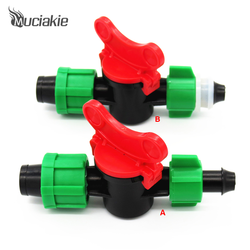 "MUCIAKIE Good Switch Valve Connector for Connecting 5/8"" Drip Tape & 8mm or 15mm PE PVC Hose Coupling Pipe for Garden Irrigation"
