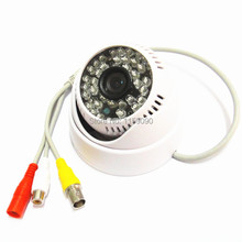 "600TVL SONY CCD HD 1/3"" 48IR Leds Color Security Camera audio + 3.6mm 1080p lens(China)"