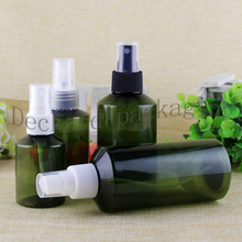 50pcs/lot wholesale High quality Perfume spray deep green bottle Travel bottle Empty cosmetics packing bottles