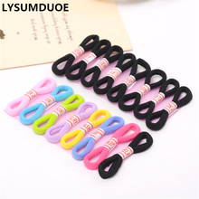 LYSUMDUOE 24Pcs Women Elastic Hair Bands Black Hairbands Scrunchy Baby Headband Ring Rubber Gum Ornaments Girls Hair Accessories