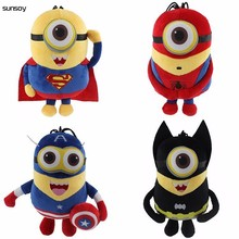 Discount Avengers Plush Doll Captain America Superman Spider-Man Batman 20CM 3D Eyes Plush Toys Brinquedos Accept Dropshipping(China)