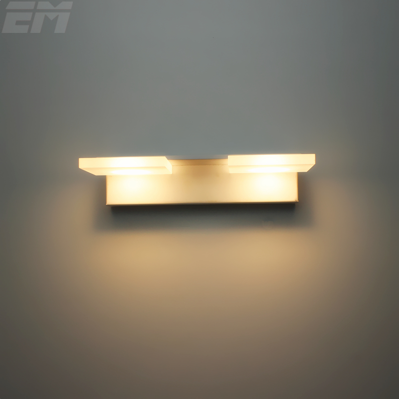 Brief Design Led Mirror Light 22cm 2 Heads 90~260V 6W Aluminum Acrylic Bathroom Lamps Bedroom Lighting GML010<br><br>Aliexpress