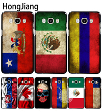 HongJiang slovak mexico canada chile colombia flag cover phone case for Samsung Galaxy J1 J2 J3 J5 J7 MINI ACE 2016 2015(China)