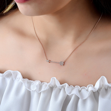 NEWBARK Trendy Love Cupid's Arrow Pendant Necklaces Vintage Link Chain Necklace Cubic Zirconia New Fashion Statement Necklace