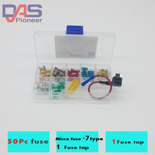 micro fuse tap with  (APS) 50pcs mixed fusivel  box  Japan Auto Fuses Boat Truck Blade car fuse  5A 7.5A 10A 15A 20A 25A 30A