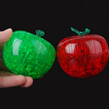 1 Pcs Cute Apple Shape 3D Puzzle Creative Adult Puzzle DIY Apple 3D Stereoscopic Crystal Puzzle Crystal Jigsaw Assembly Model(China)