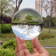 80 Mm Rare Clear Quartz Crystal Ball Asian Feng Shui Ball Good Luck Decorative Fashion Table(China)