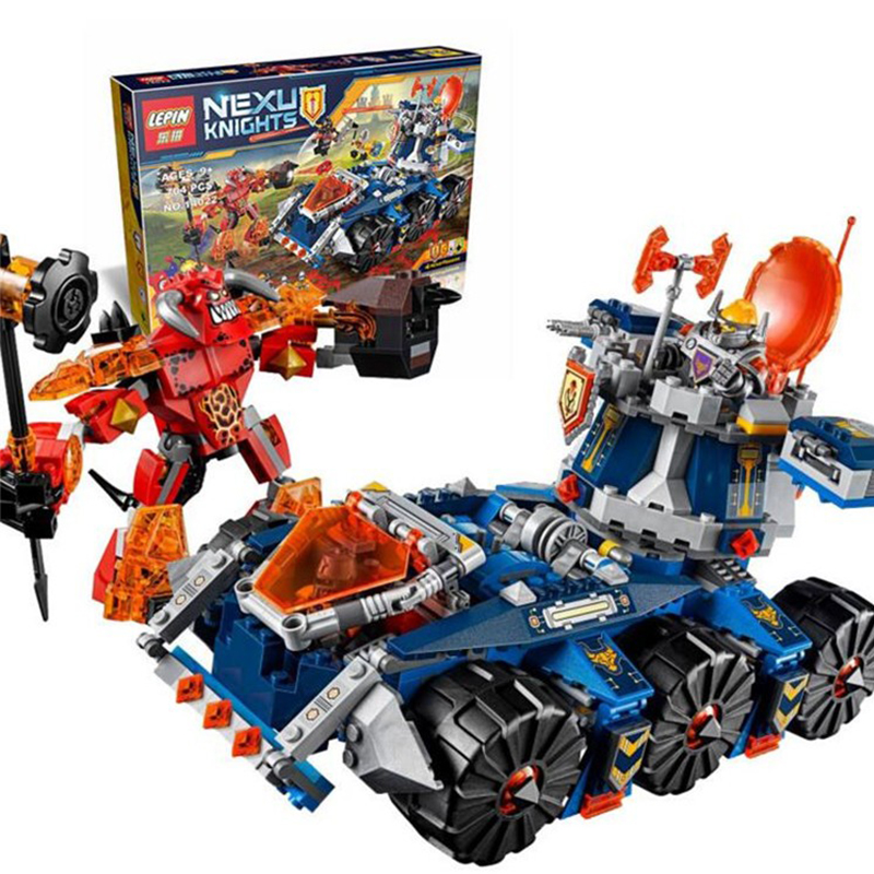 704Pcs LEPIN 14022 Nexo Knights Axl Axls Tower Carrier Combination Marvel Building Blocks Kits Toys Compatible 70322<br>