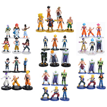 6pcs/set 12cm anime Dragon Ball Z Super Saiyan Trunks vegeta Son Goku uub Kakarotto PVC Action Figure toys Christmas gift toy