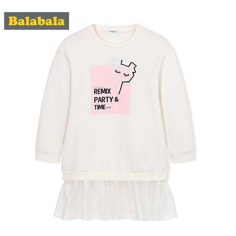 Balabala new dresses spring 2018 girl clothes children teenager dress girls Princess Dress children fashion wear sweet clothes<br>