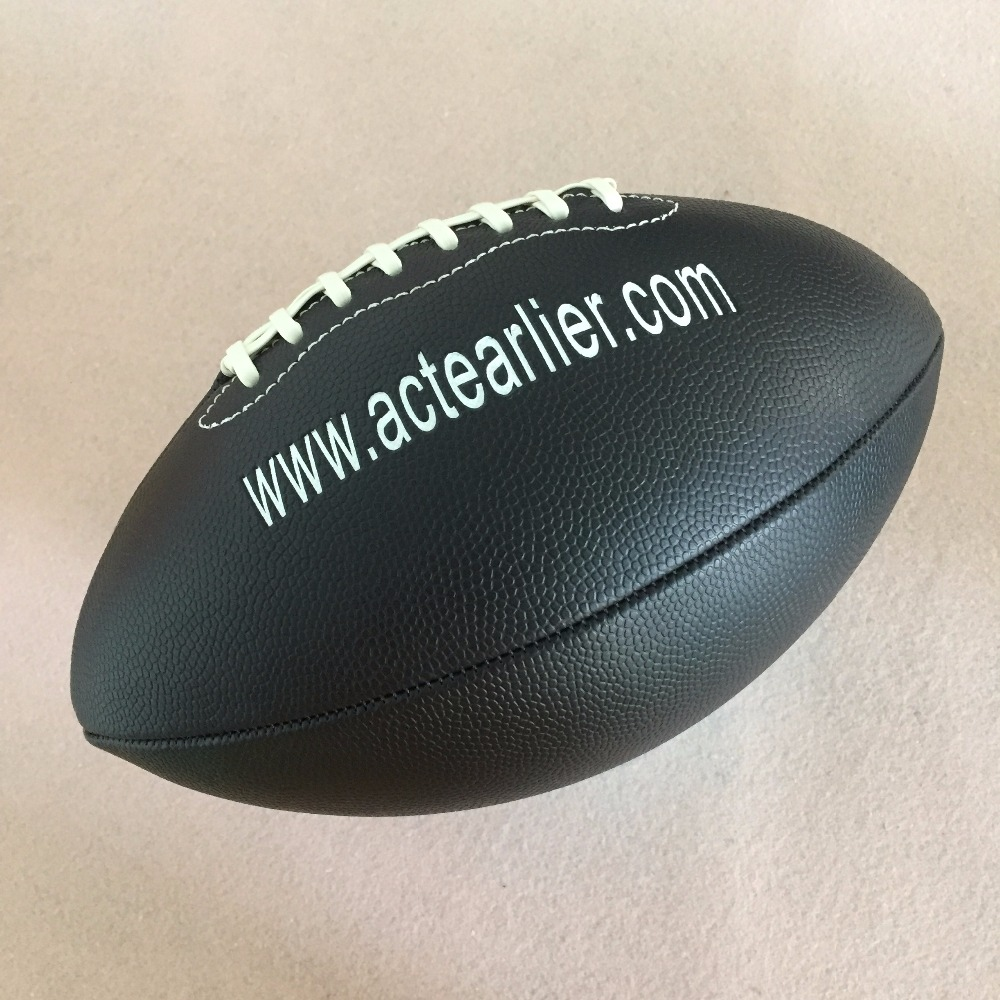 Rugby Sports Official Size 9 Black Color American Football Rugby Ball For Training Match Entertainment Toy(China)