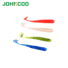 24pcs/bag Artificial Bait 50mm 0.6g Soft Bait Fishing Fake Lure Silicone Lures For Fishing Soft Bait Worm Carp Fishing