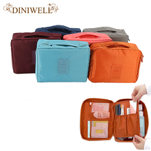 DINIWELL Unisex Waterproof Nylon  Cosmetic Make Up Toiletry Storage Bag Holder Beauty Wash Organizer Monopoly Pouch For Travel