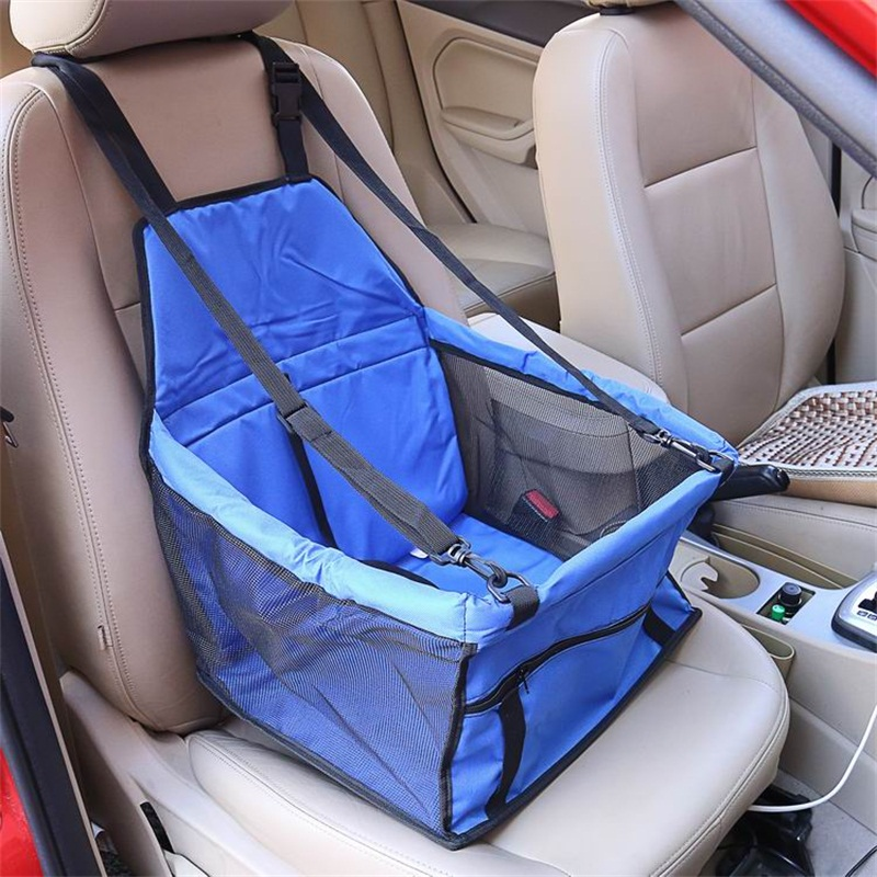 Blue Color Waterproof Washable Deluxe Pet Carrier Car Travel Bag for Dog, Cat