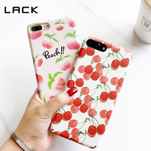 LACK Cute Juicy Peach Phone Case For iphone 7 Summer Delicious Fruit Cherry Cartoon Case For iphone 7 Plus Hard Cover Capa