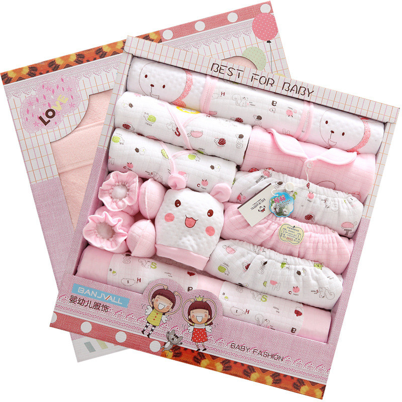 21pc Autumn and winter thickening newborn clothes set with newborn baby blanket newbron Born baby supplies jhbb jhbb<br>