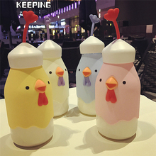 TTLIFE 400ML Portable Juice Lemon Fruit Infuser Water Bottle Outdoor Sports Travel Water Bottle Cute Animals Kettle for Chid(China)