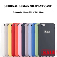 For iPhone 5 5S SE 6 6S Plus Original Design Silicone Case Official Style Silicon Cover with Logo Full Protection Capa Coque