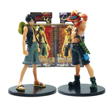 One Piece Monkey D Luffy Portagas D Ace PVC Figure Set 17cm Japanese Anime Toys Gifts(China)
