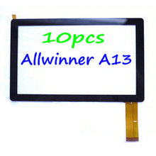 10pcs/lot 7 inch Allwinner A13 Q88 Q8 Pad A13 Tablet Touch Screen Capacitive Panel Digitizer Glass Sensor Free Shipping