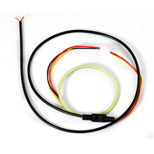 New product 100mm Market Angle eyes Dual Color COB LED Car Styling Daytime running Lights 1PCS