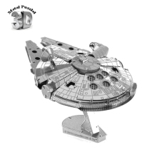 Star Wars Millennium Falcon 3D Metal Puzzles Earth Laser Cut Model Jigsaws DIY New Year Gift Building Model Educational Toy Kids