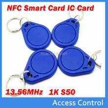Free Shipping 10pcs/lot 13.56MHz RFID IC Key Tags Keyfobs Token NFC TAG Keychain For Arduino Access Control Cards(China)