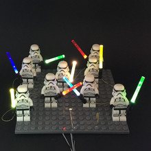 1pcs LED light lightsaber lego figure Toys Star Wars Force Awakens Nano Light Set  Store)