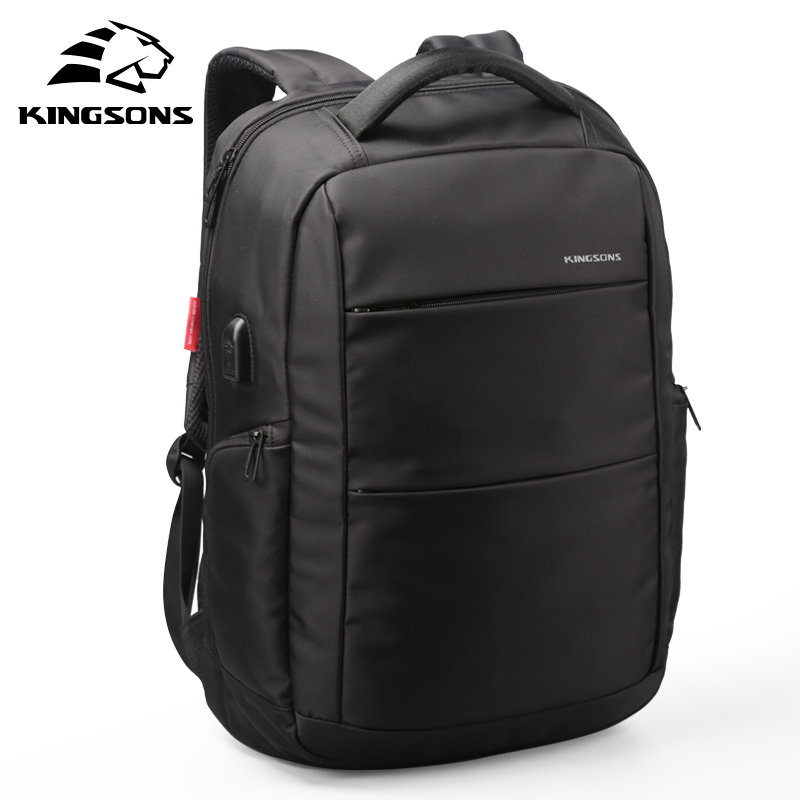 Kingsons Function Laptop Backpack Whit USB Cable Wear-resistant Man Business Dayback Women Travel Bag 15.6 inches School Bag<br>