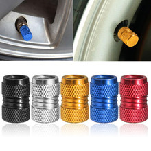 4 Pcs/Set Aluminium Tire Tyre RIM Wheel Dust Air Valve Stem Cap Cover Car Truck Bike