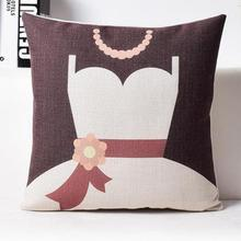 Let's Get Married Cute Cartoon Simple Linen Couple Throw Pillow Cushion For Wedding Decor Gifts Factory Direct Supply