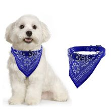 Brand New Pet Dog  Leather Neckerchief Adjustable Collar Puppy Cat Neck Scarf Bandana