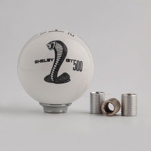BBQ@FUKA Black Gear MT 6-6Speed  Manual Gear Shift Knob Refit Fit for Mustang Shelby GT 500 Cobra