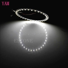 2Pcs Bright White 100mm Angel Eyes 33 SMD LED Ring Car Light #S018Y# High Quality