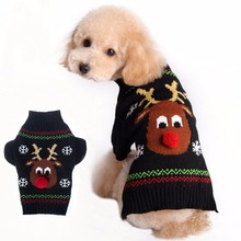 Pet Halloween Cartoon Striped Clown Cute Santa Claus Christmas Dog Sweater Pet Winter Knitwear Warm Clothes Costume