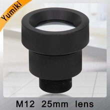 "Yumiki CCTV lens 25mm M12*0.5 14degree 1/3"" F1.2 CCTV MTV Board Lens For Security CCTV Camera"