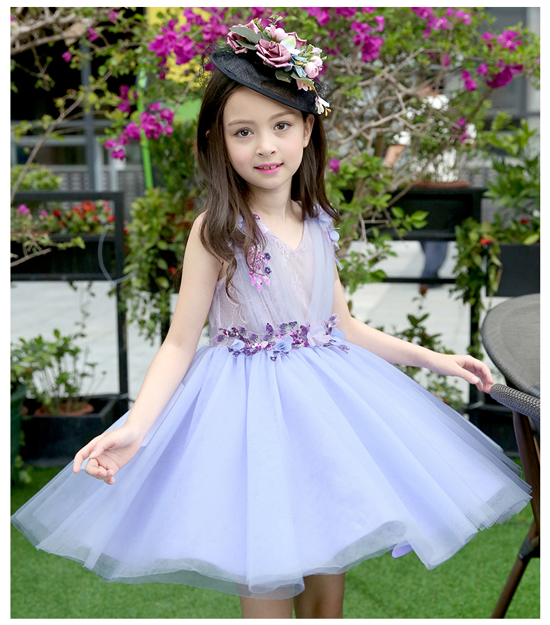 Girls Dresses 2017 Hot Sell Girl Fashion Infanta Rani Tulle Flower Summer Brand Wedding Baby Kids Princess Dress <br>