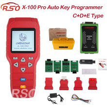 DHL free  X100 Pro Auto Key Programmer C+D+E Type for IMMO&ODOMETERand OBD Software Function with EEPROM