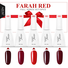 Azure Beauty Farah Red series Red gel nail polish 12ml uv gel varnish marry gift soak off led gel polish lacquer for Halloween(China)