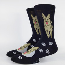 Men's German Shepherd Skate Casual Socks USA Size 8-11,Euro Size 41-44 (Thin Material)(China)