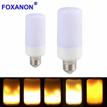 New E27 B22 LED flame lamp Flame Light Effect Fire Corn Bulb 220V 110V 2835SMD Flickering Emulation Night Lights 1900K New Year(China)